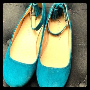 Girls Teal Shoes